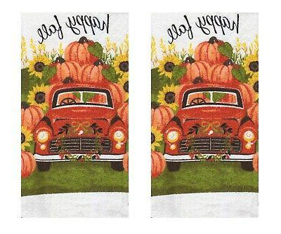 kitchen drying hand towels set of 2