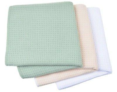 Kitchen Weave Wash Dish Drying Towel 16X16 3 Pack White