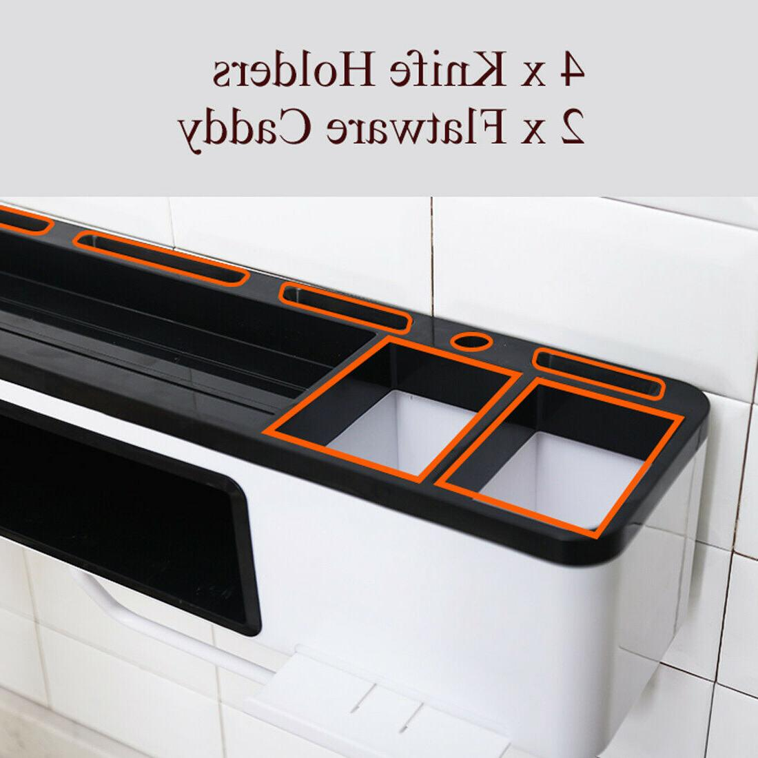 Kitchen Organization Rack Holder Shelves Towel Bar
