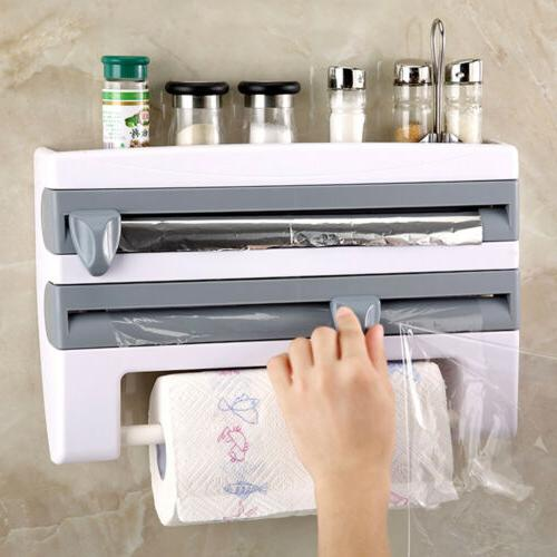 wall mount paper towel holder cling film