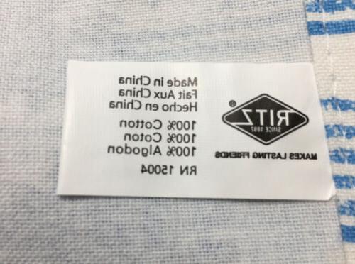 Ritz Kitchen 100% Lot 3 New Blue/White