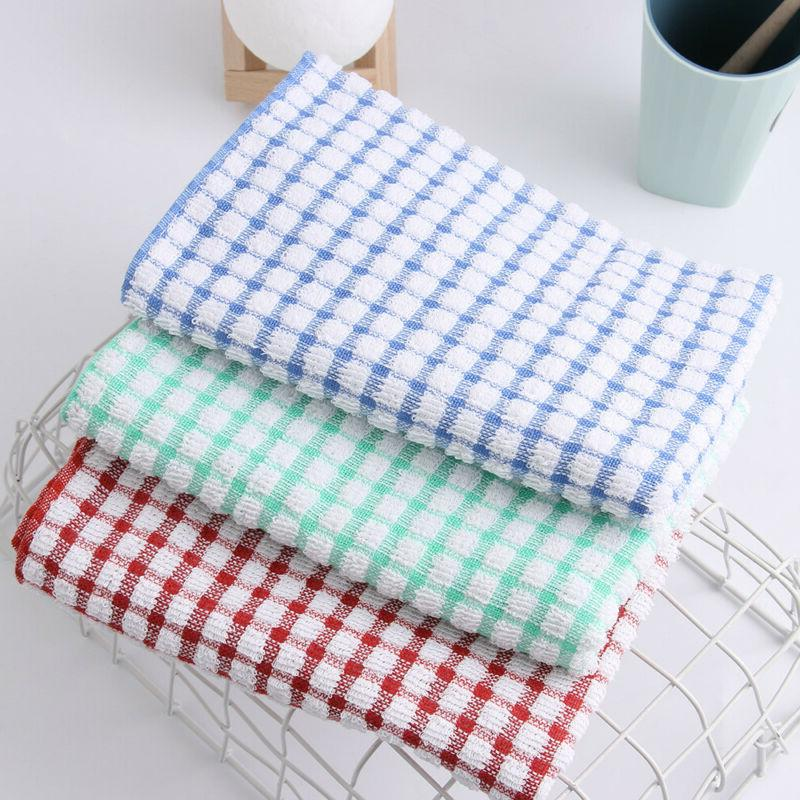 Kitchen Tea Towels Dish Cloths Absorbent Drying Towel Washin