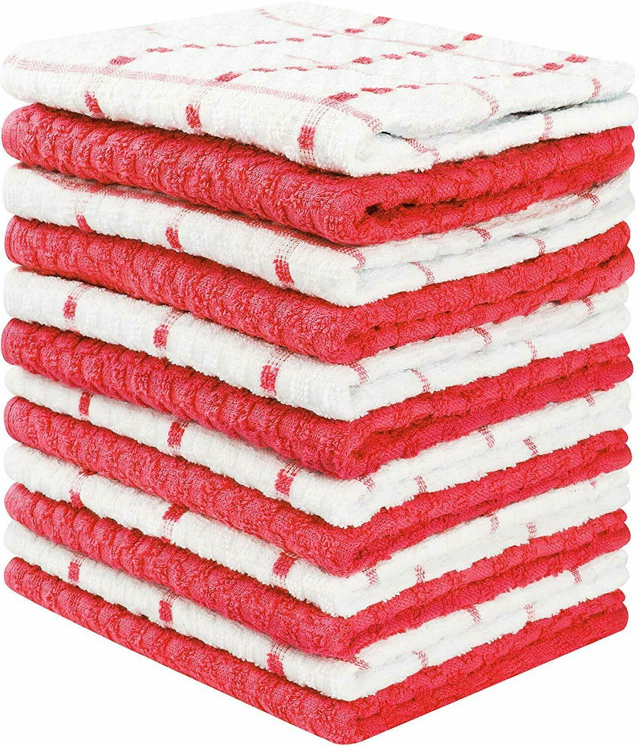 Kitchen Dobby Weave Dish Cloth Pack Lot Towels