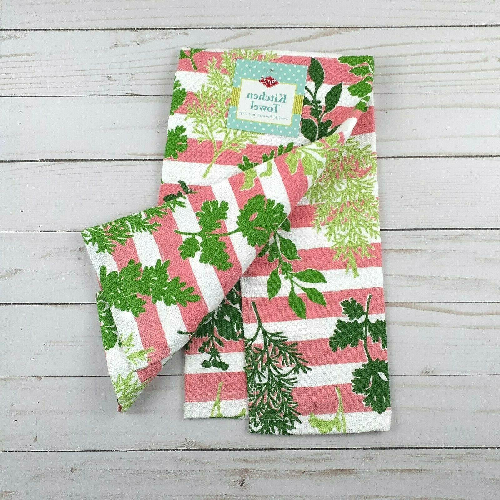 Ritz Towel Herbs Pink Stripes Purpose