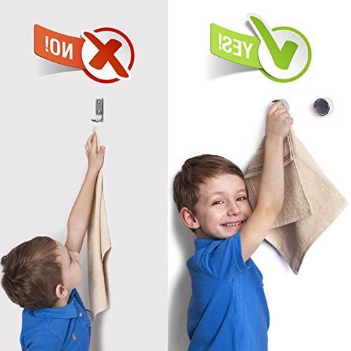 Kitchen Towel Hooks – Set of Self Adhesive Premium Easy Installation – Holds Towel – Bathroom, or Outdoor Towel holders