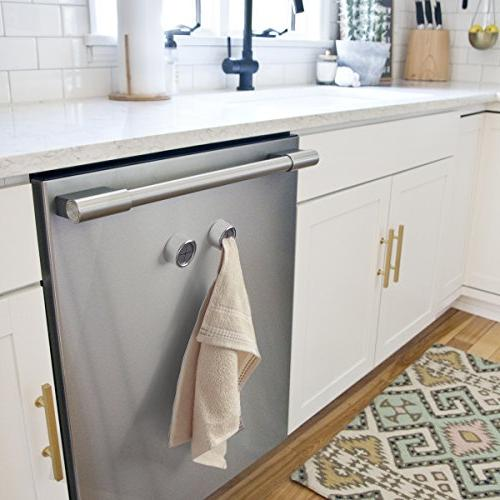 Kitchen Towel Set 2 Self Adhesive Hook Premium Easy Installation – Holds Towel without – Ideal Bath, Bathroom, or Towel