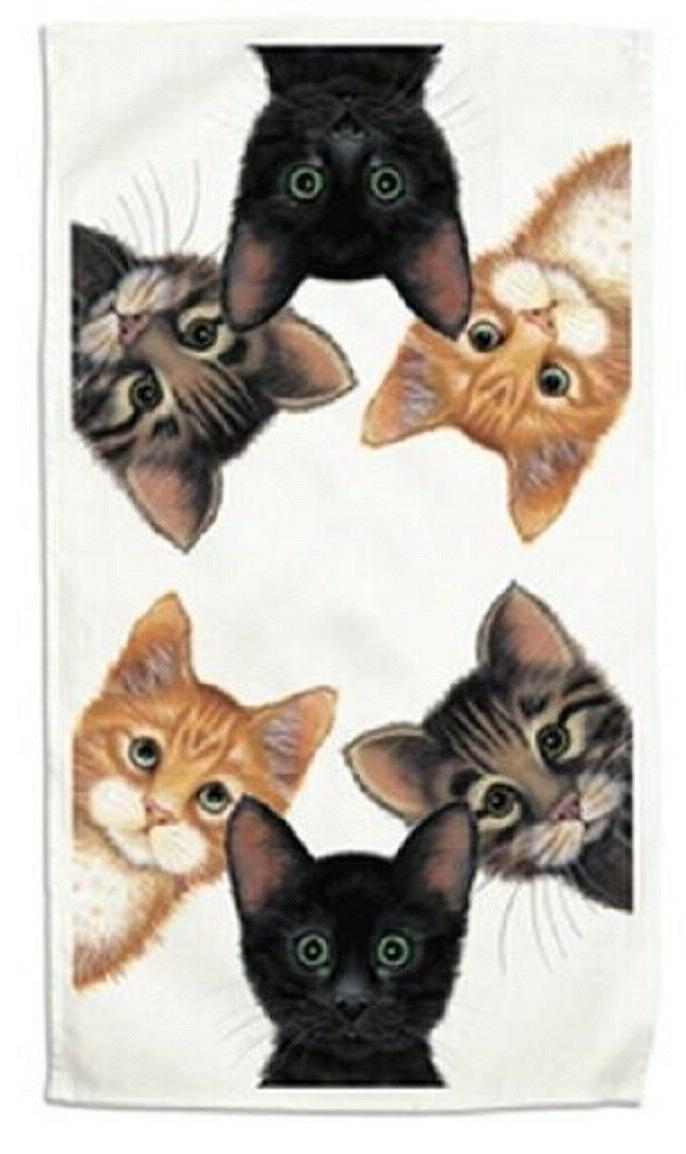 kitchen towel peeping toms cats printed in