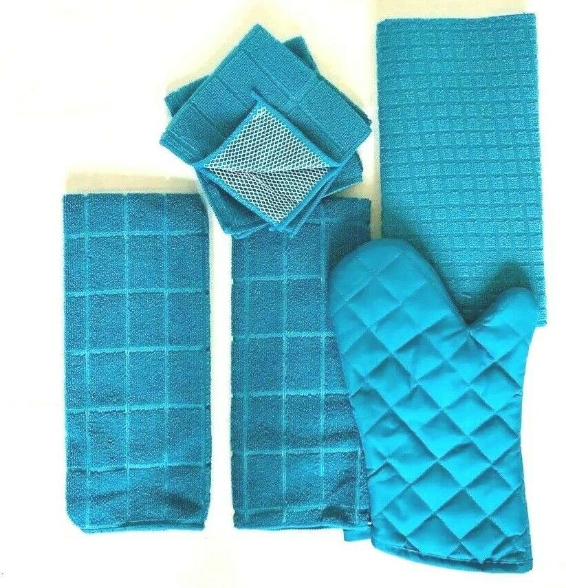 Kitchen Towel Set Mitt Towels 2