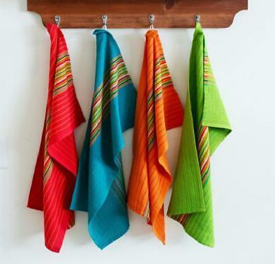 Kitchen Set Salsa Stripe Multi-Color Cloth