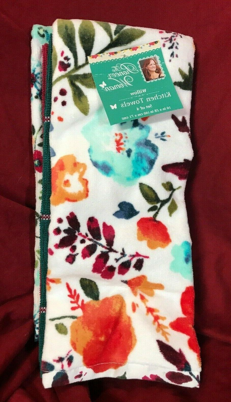 kitchen towel set willow collection 4 pieces