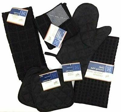 kitchen towel set with 2 quilted pot