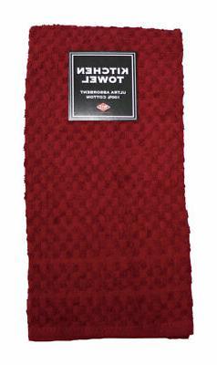 """Ritz Kitchen Towel Solid 100% Cotton 15"""" X 25"""" Paprika Case"""