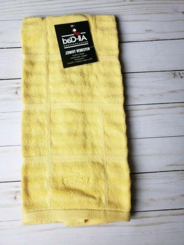 kitchen towel yellow oversized 100 percent cotton
