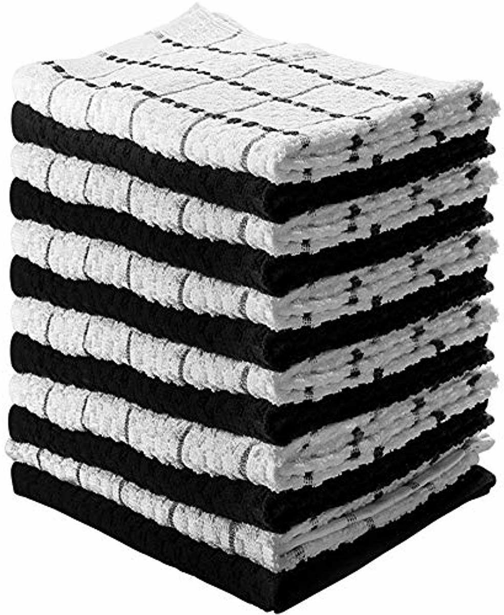 Kitchen Towels 100% Premium Cotton Machine Washable Extra Se