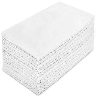 Cotton Craft  Kitchen Towels 12 Pack Waffle Weave Terry 16x2