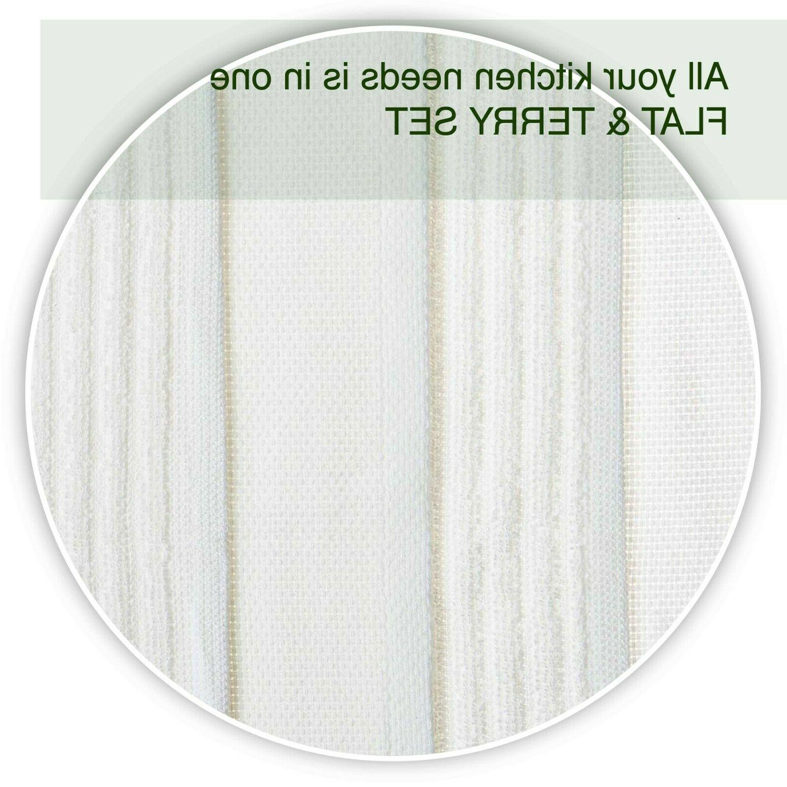 Kitchen Towels Flat Terry Cotton with Hanging Loop 4,