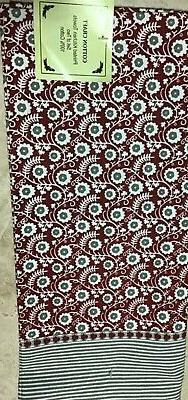 kitchen towels 2 red white khaki flowers