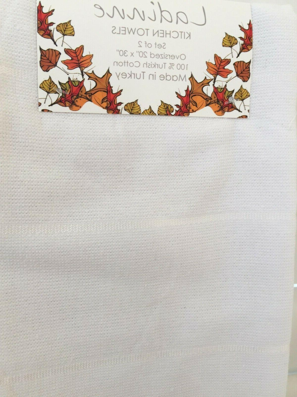 """Ladinne Kitchen Towels set 20""""x30"""" THANKSGIVING Made in NEW"""