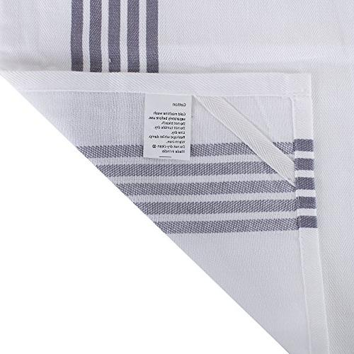The Weaver's of Kitchen Stripe Design, 100% Absorbent, Stripe,Kitchen Towels Cloths