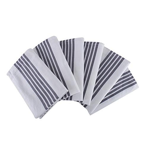 of Kitchen Stripe Design, Cotton, Absorbent, Grey Stripe,Kitchen and Dish Cloths