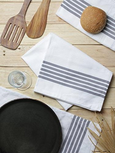 The Blend of Stripe 100% Absorbent, Stripe,Kitchen and Dish Cloths