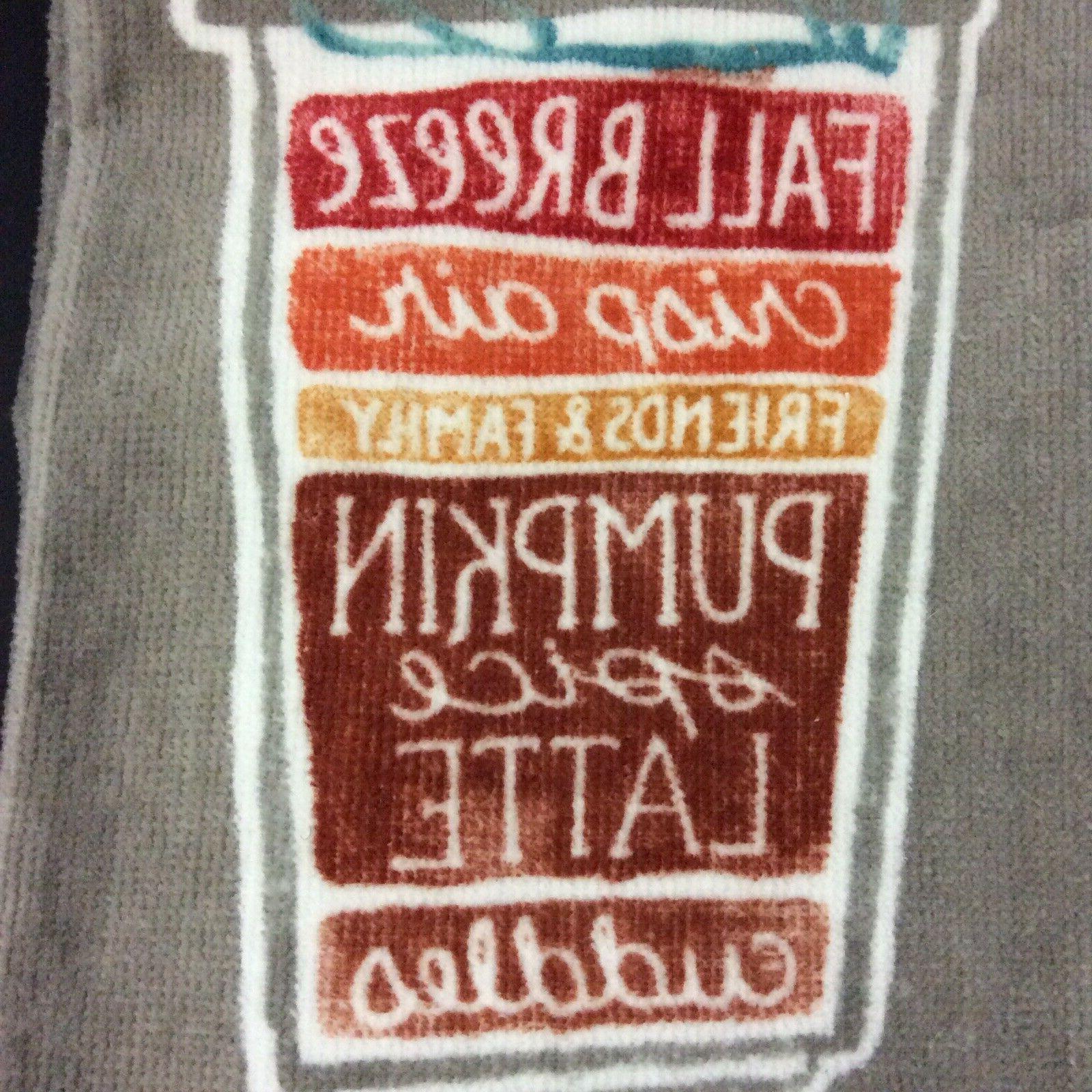 Kitchen Towels Celebrate Fall Together Autumn Gray White Ora