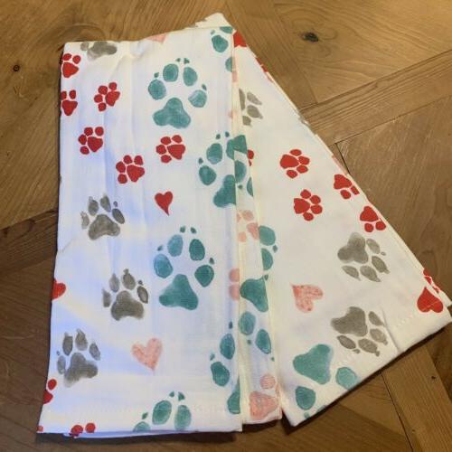 Kay Dee Designs Kitchen Towels Dog Paw Prints