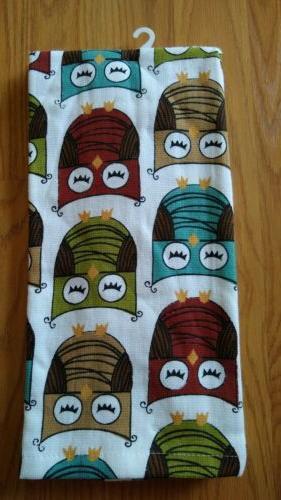 RITZ Kitchen Towels Owls Pack Cotton NEW