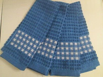 KITCHEN TOWELS SET OF 4 - 100% COTTON - BLUE  COLOR - SIZE 1
