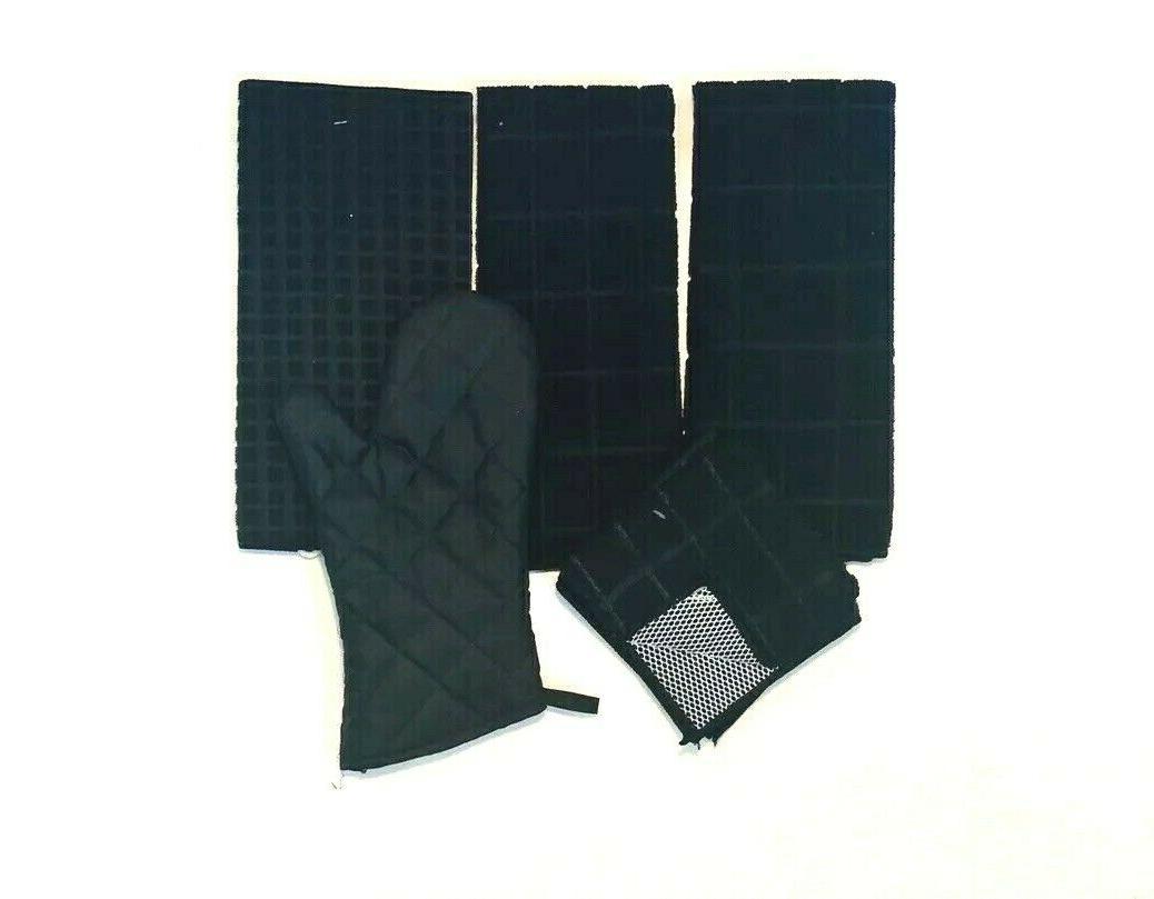 Kitchen Towels 6 Print Dishcloths Oven Mat