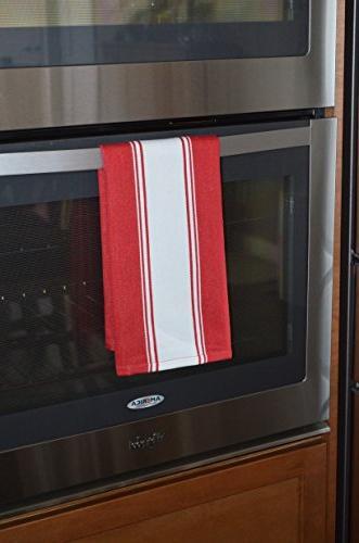 Homemakers Cotton Kitchen Lasts for Hundreds of Vintage 20 x Set 4, Red