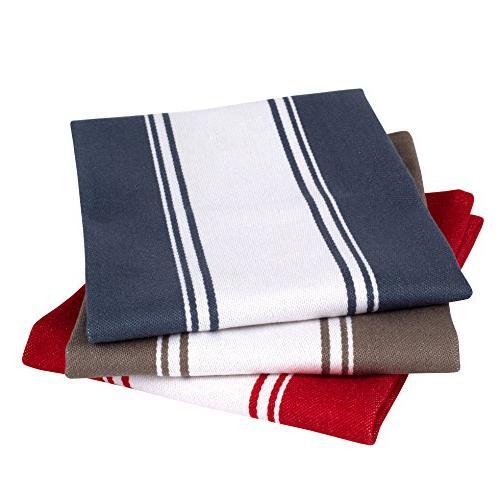 Homemakers Cotton Kitchen Lasts for Hundreds of Vintage 20 x 28 Set 4, Red