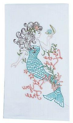 let sea set you free mermaid embroidered