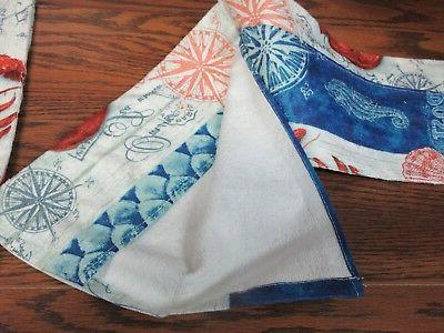 Lot KAY DEE Terry Dish Towels LOBSTER OCEAN POSTCARD new!