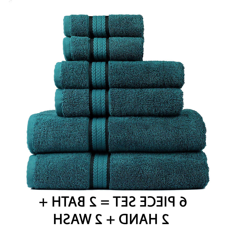 Luxury Cotton Towel Set Washcloth Bath Hand Wash Cloth Soft