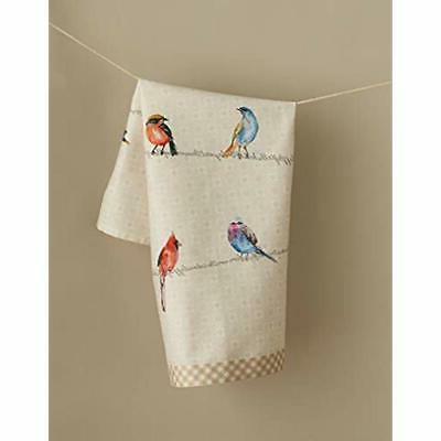 Maison D&39 Hermine Birdies On Wire Set Towels, - By