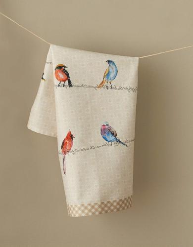 Maison Hermine Birdies On 100% Cotton Set Kitchen Towels, - inch