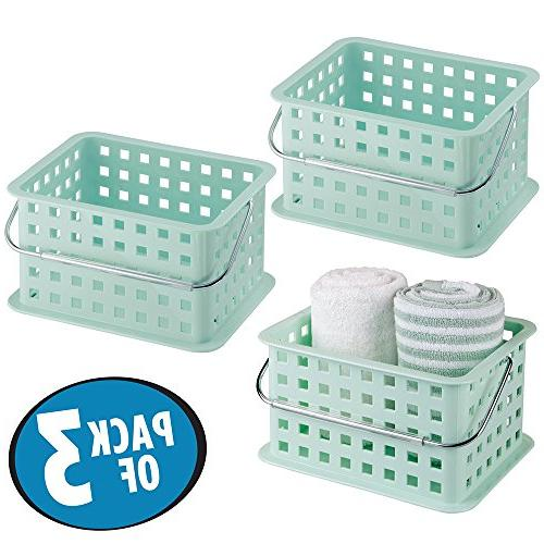 mdesign bathroom vanity basket