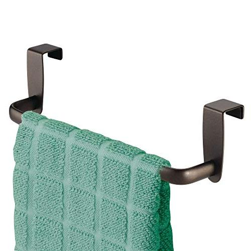 mDesign Kitchen Metal Towel Hang Inside Outside of for Hand, and Towels - 4 -