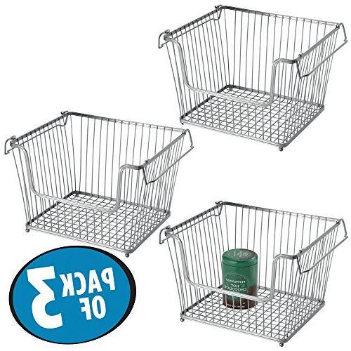 mdesign open wire storage basket