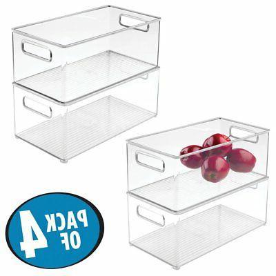 mdesign refrigerator freezer storage bins