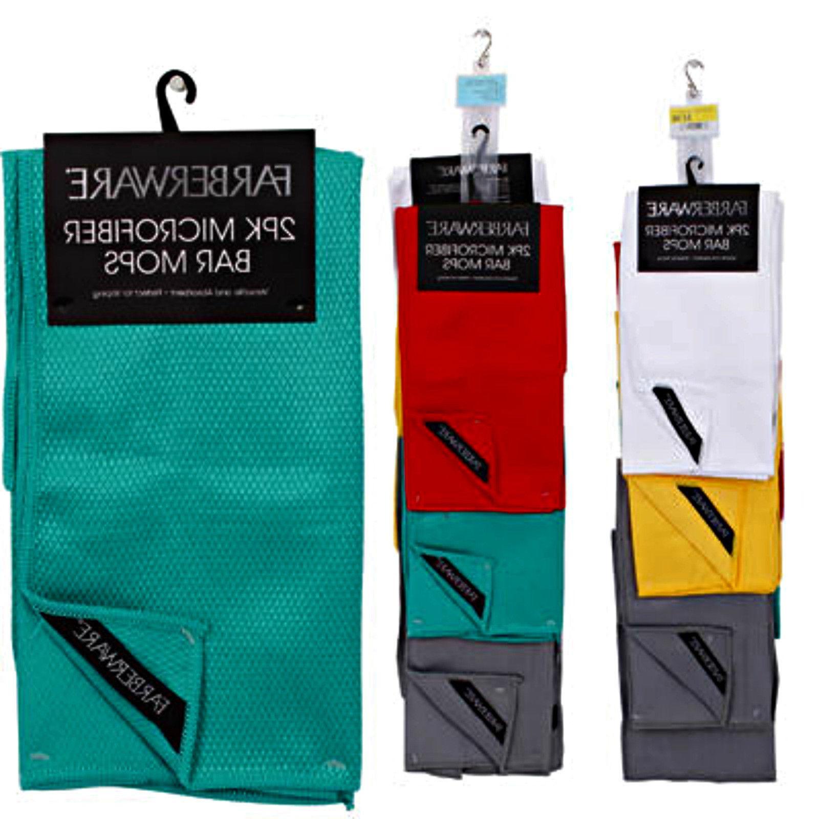 Farberware Microfiber Bar Mop 2-pack Kitchen Towels Dish Clo