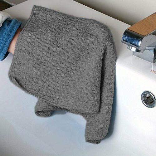 "Microfiber Dishcloth Cleaning Towel 12""x12"" Black"