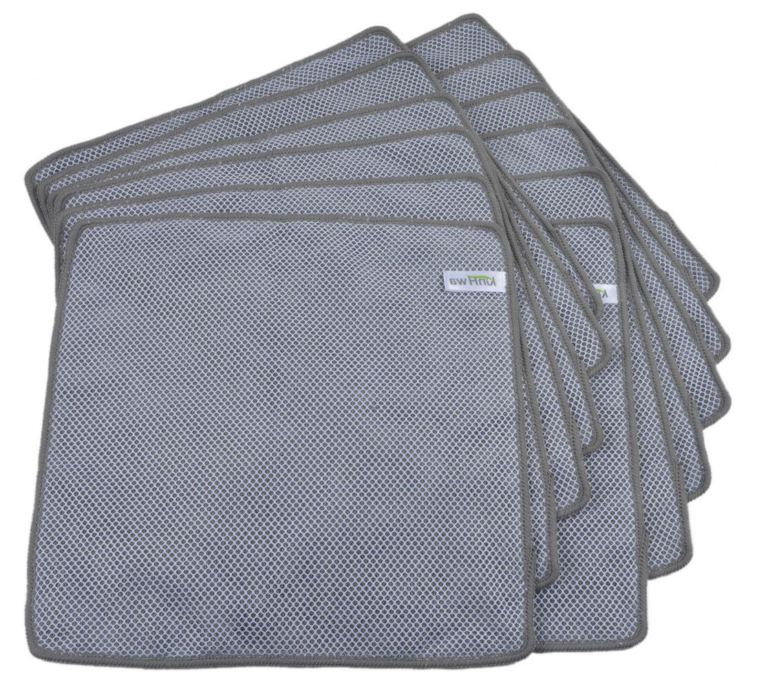 Microfiber Dishcloth Kitchen Washing Cleaning Towel Lot Black Pack