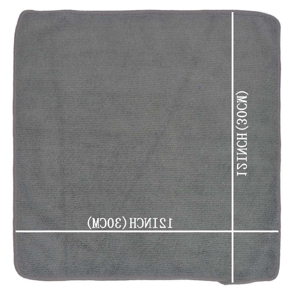"""Microfiber Kitchen Cleaning Towel 12""""x12"""" Black 18 Pack"""