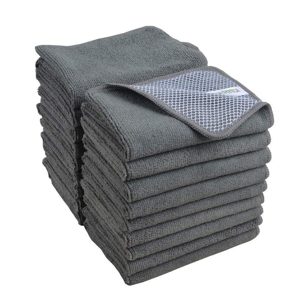 microfiber dishcloth kitchen washing cleaning towel lot
