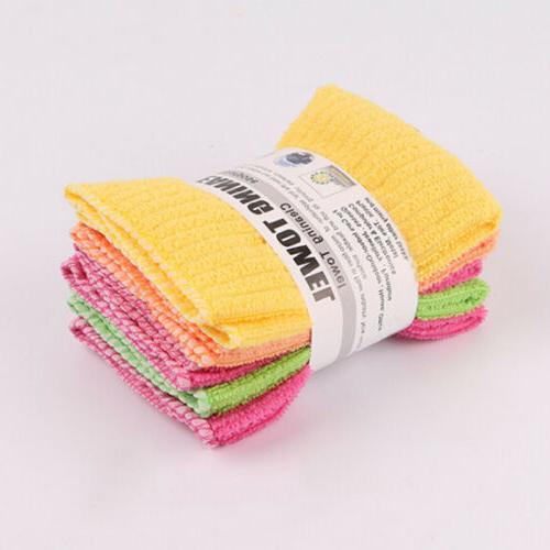 Microfiber Dishcloth Square Cloth Rags Wipe