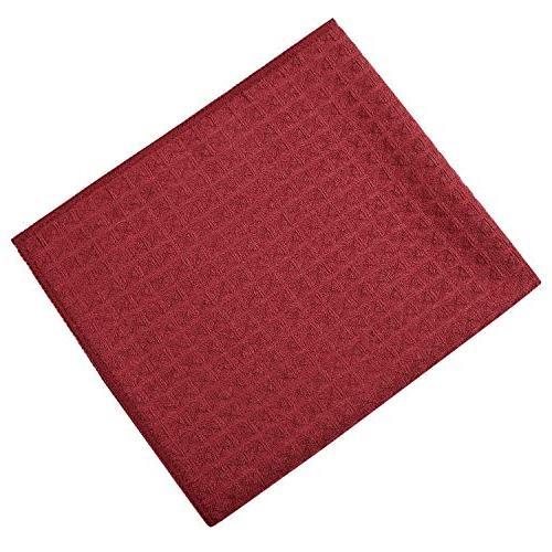 Lifaith Waffle Weave Kitchen Dish Cloth 3 X Red