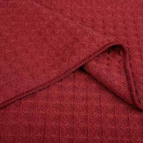 Lifaith Microfiber Thick Weave Cloth 3 Pack X 19inch Red