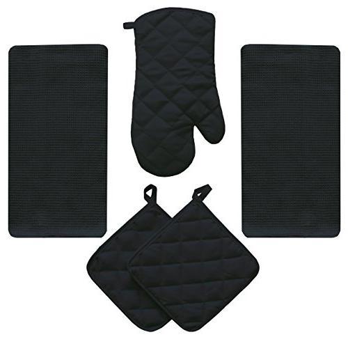 midnight black kitchen towel set